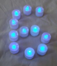 6 pcs Blue Flameless Flickering LED Candle Tea Light Home Decoration Supply