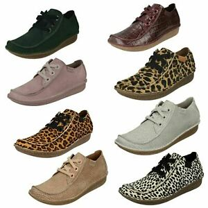 Ladies Clarks Lace Up Shoes - Funny Dream