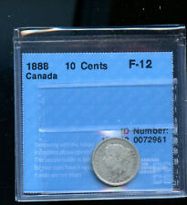 1888 Canada 10 Cents CCCS Certified F12 DCB198