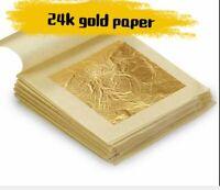 24K Edible Pure Genuine Gold Foil Leaf Sheet Food Cake Face Mask SPA