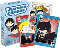 JUSTICE LEAGUE - CHIBI - PLAYING CARD DECK - 52 CARDS NEW - DC COMICS 52472