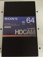 1 x Sony BCT-64HDL HDCAM HD Digital Video Cassette a nastro metallico digitale QUAKE NUOVO