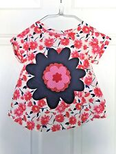 Toddler Girl's floral tee, Size 3T, split back, emb ready made, + large flower
