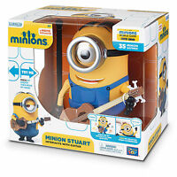 MINIONS - TALKING MINION STUART INTERACTS WITH GUITAR - 35 SAYINGS MOVEABLE HEAD