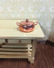 Dollhouse Miniature Copper Cooking Pot Large with Removable Lid 1:12 Scale