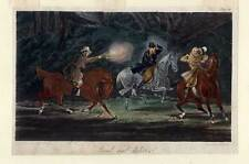 Raub-Überfall-Pferde-Reiten - Aquatinta 1830 H. Alken