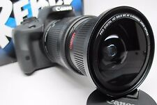 Ultra Wide Angle Macro Fisheye Lens for Canon Eos Digital Rebel w/ 18-135 24-85