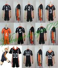 Haikyuu!! Karasuno Unisex High School Uniform Jersey Cosplay Costume NO.1-NO.12