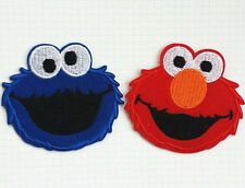 Sesame street Elmo and cookie monster Embroidered Iron On / Sew On Patch