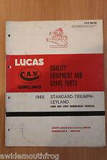 Lucas équipement de qualité et pièces de rechange 1965 standard & Triumph Voitures & publicités