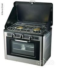 Horno + Cocina de Gas 2-flammig, Portátil para Camping Balcón Caravana Bus Van
