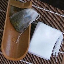 100Pcs Tea Filter Bags Disposable Tea Infuser Empty Net Mesh Drawstring Fabric