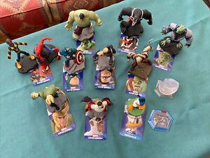 Disney Infinity 2.0 9 x Marvel figures & Donald Duck