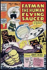 Fatman Human Flying Saucer 1 NM WHITE Circle 8 Pedigree 1967 Lightning Comics
