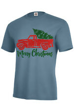 Red Truck Christmas Tree Vintage Merry Xmas T-Shirt KIDS S6-8-XL18-20 and S-5XL
