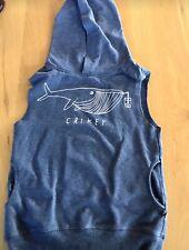 minti whale sleeveless hoodie - size 5