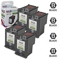 LD © Reman Replacement Ink Cartridges for HP C9362WN (HP 92) Black (4 Pack)