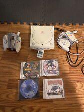 Sega Dreamcast Launch Edition White Console With Marvel Vs Capcom 2.