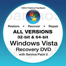 WINDOWS VISTA ALL VERSIONS Recovery Install Reinstall Boot Restore DVD Disc Disk