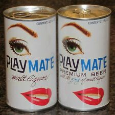 Playmate Replica / Novelty beer cans, set of 2, paper label