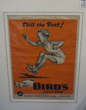 Original 1944 Vintage food Advert Birds Custard Schoolboy long jump athletics