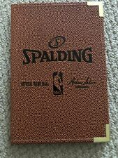 Spalding Nba Small Note Size Official Game Ball Portfolio