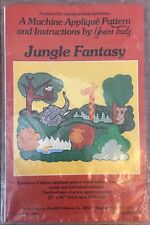 """Vintage Machine Applique Pattern, Yours Truly JUNGLE FANTASY  21x16"""" new sealed"""