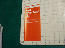 Vintage High Grade AIRLINE brochure: AIR CANADA 1970 nORTH AMERICAN 36PGS