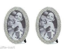 2 crystal gem diamond rhinestone 4 x 6 wedding photo Picture Frame keepsake