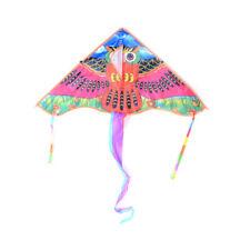 1Pc 80cm Owl Printed Long Tail Kite Children Kids Outdoor Garden Fun Toys Hi