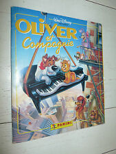 ALBUM PANINI OLIVER ET COMPAGNIE 1989 INCOMPLET DESSIN ANIME 75 STICKERS DISNEY