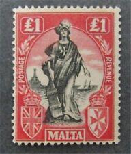 nystamps British Malta Stamp # 114 Mint OG H $125
