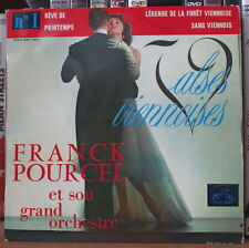 """FRANCK POURCEL """"VALSES  VIENNOISES"""" N°1 45t 7"""" FRENCH EP"""