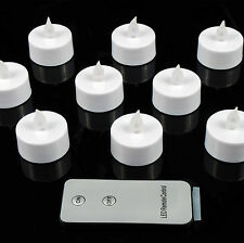 10 x Remote Control Flickering Led Tea Lights Candles Tealight Tea Light Xmas