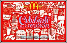 McDONALD CELEBRATE THE SEASON McCAFE OATMEAL SHARE THE JOY COLLECTIBLE GIFT CARD