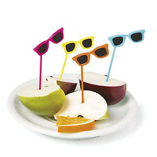 72 COOL COLORFUL sunglasses Food or Drink Picks Luau BEACH  POOL Party