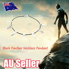 Black Panther Necklace Pendant Metal Movie Cosplay Silver Shiny Costume BO