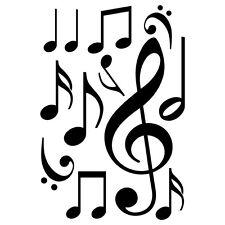 Sticker Plance  Note de Musique  - 25x37 cm