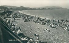 Postcard Somerset Blue Anchor Bay Beach Real photo unposted