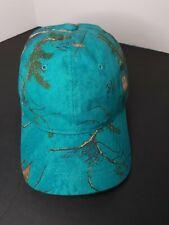 Womans Realtree Hat Teal Camo Cap Signature Strapback Hunting Fishing New  L