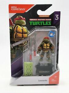 Mega Construx Heroes Series 3 Teenage Mutant Ninja Turtles Leonardo Figure TMNT