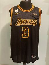 NBA Mens Los Angeles Lakers #3 Anthony Davis Black snakeskin Basketball Jersey