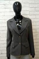 Giacca Donna K'HO & K'HO Taglia L Cappotto Vintage Grigio Blazer Jacket Woman