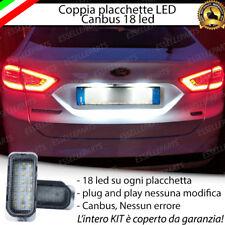 COPPIA PLACCHETTE LED TARGA 18 LED FORD MONDEO 4 CANBUS ULTRALUMINOSI