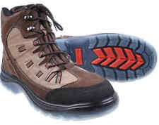 KING GEE GRAPHITE LACE UP SAFETYHIKER BOOTS SIZE 6 BROWN