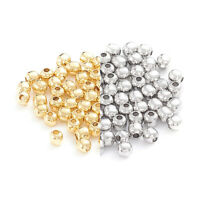 1 Bag 304 Stainless Steel Round Metal Beads Smooth Mini Tiny Loose Spacers 2~8mm