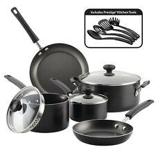 Cookware Set Nonstick Interior Aluminum Kitchen Pots Pans Dishwasher 12 Pcs