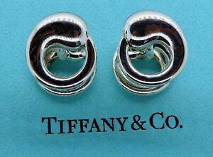 Authentic silver TIFFANY & CO. ELSA PERETTI ETERNAL CIRCLE cufflinks