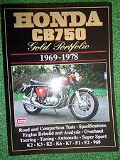 HONDA CB750 PORTFOLIO SPECS DATA ENGINE REBUILD TIPS ROAD TESTS MANUAL 1969-78