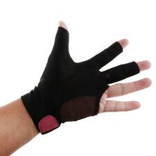 3 Fingers Left Hand Billiard Glove for Pool Snooker Cue Accessories Black